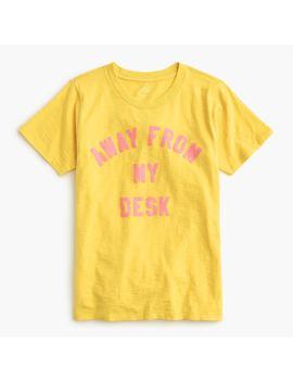"""Away From My Desk"" Crewneck T Shirt In Vintage Cotton by J.Crew"