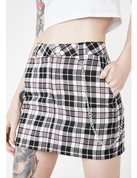 Pure Loose Cannon Plaid Skirt by Current Mood