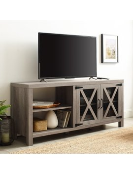 The Gray Barn Kujawa Barn Door Tv Stand Console by The Gray Barn