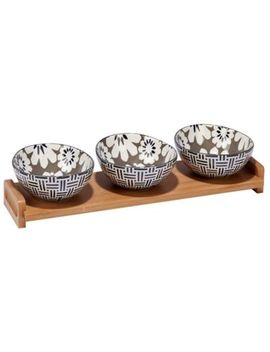 Certified International Chelsea Mix And Match Floral 4 Piece Serving Set by Bed Bath And Beyond