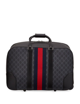 Gucci Mens Gg Supreme Rolling Weekender Duffel Carryon Bag by Gucci
