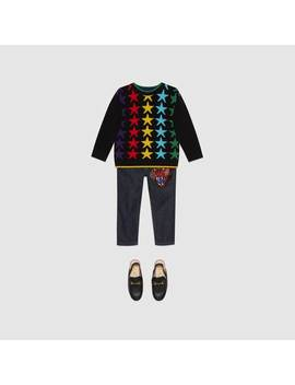 Children's Star Wool Sweater by Gucci