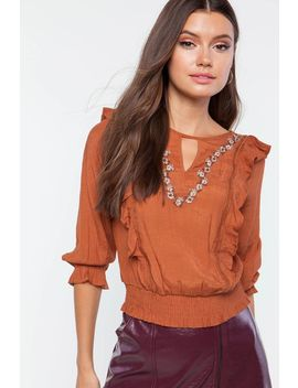 mia-ruffle-keyhole-blouse by agaci