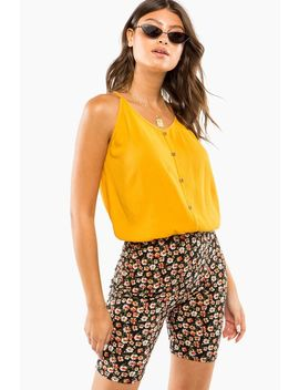 Button Up Cami Top by A'gaci