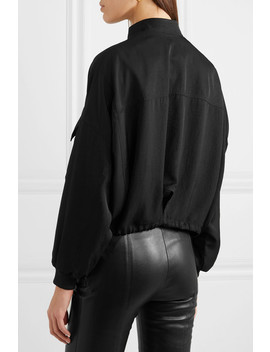Washed Twill Bomber Jacket by Tom Ford