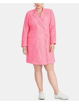 Darla Plus Size Lace Blazer Dress by Rachel Rachel Roy