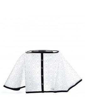 Chanel Pvc Calfskin Coco Bag Raincoat White Black by Chanel