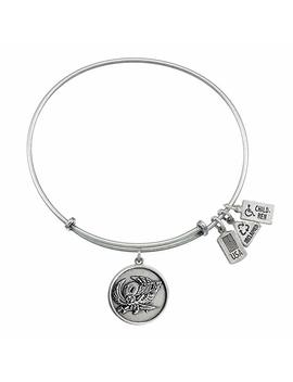 "Wind And Fire ""Temple U Temple Owls"" Charm With Bangle Wf660 by Wind & Fire"