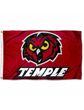 Temple Owls University Large College Flag by College Flags And Banners Co.