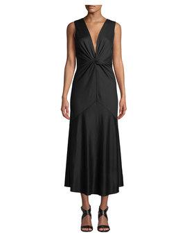 Baila Twist Front Sleeveless Cocktail Dress by Diane Von Furstenberg