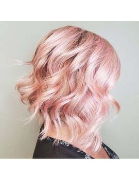 Easyouth Short Wig Pink 10 Inch Wavy Bob Wig Cosplay Human Hair Lace Front Wig Bob Lace Front Wig Remy Human Hair Full Head Hair Wigs For Girls by Easyouth