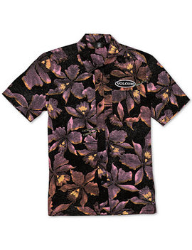 Big Boys Resorto Vallarta Classic Fit Floral Print Shirt by Volcom