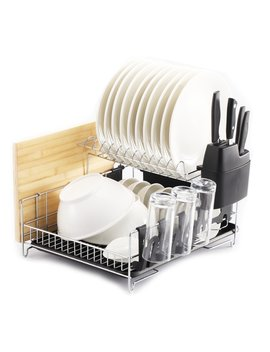 premiumracks-professional-dish-rack---304-stainless-steel---fully-customizable---microfiber-mat-included---modern-design---large-capacity by premium-racks