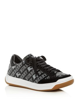 Women's Timsbury Logo Print Leather Lace Up Sneakers by Burberry