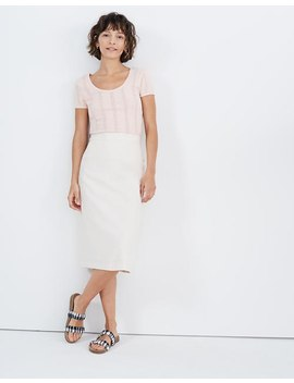 Button Slit Midi Skirt by Madewell