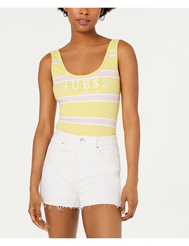 Striped Graphic Bodysuit by Guess