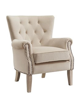 Dorel Living Accent Chair, Beige by Dorel Living
