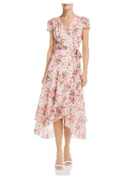 Rose Print Wrap Dress by Betsey Johnson
