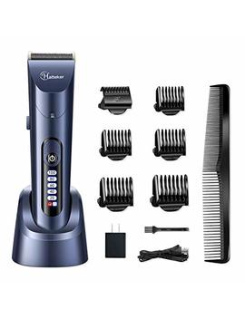 Hatteker Hair Clippers For Men Cordless Hair Trimmer Beard Trimmer Hair Cutting Kit Waterproof Rechargeable Led Display With Charging Dock by Hatteker.