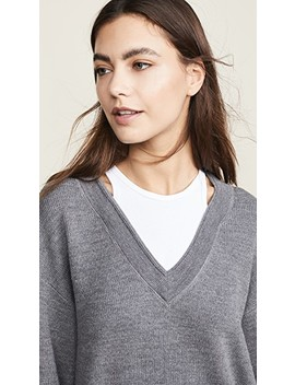 Bi Layer V Neck Sweater by Alexanderwang.T