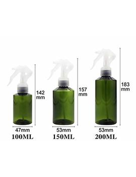 3pcs-green-empty-refillable-plastic-spray-bottles-with-white-trigger-sprayer-mist-for-essential-oils-cleaning-products-aromatherapy-and-more(150ml_5oz) by sybl