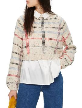 Check Pattern Sweater (Regular & Petite) by Topshop