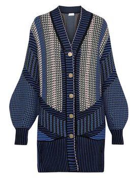 Crochet Knit Cotton Blend Cardigan by Peter Pilotto