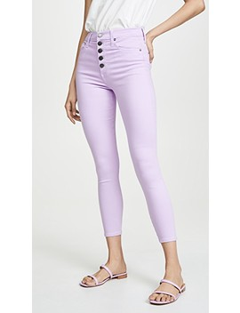 Good High Rise Exposed Button Jeans by Alice + Olivia Jeans