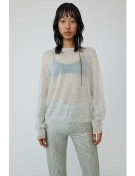 Mohair Knit White Melange by Acne Studios