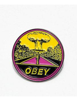 Obey Mushroom Cloud Enamel Pin by Obey