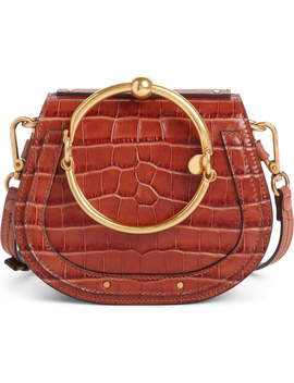 Nile Bracelet Croc Embossed Leather Crossbody Bag by ChloÉ