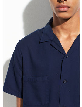 Textured Indigo Cabana Short Sleeve by Vince