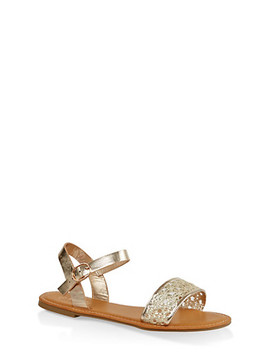 Woven Ankle Strap Sandals by Rainbow