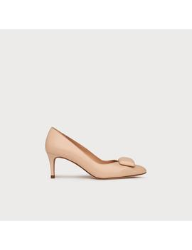 Doria Nude Leather Heels by L.K.Bennett