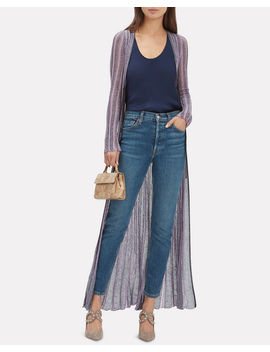 Purple Striped Lurex Duster by Missoni