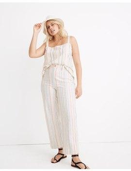 Slim Emmett Wide Leg Crop Pants In Rainbow Stripe by Madewell