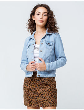 Sky And Sparrow Light Wash Womens Denim Jacket by Sky And Sparrow