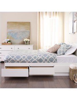 Bowery Hill Platform Storage Bed In White 20161122 Keep In Touch by Homes Quare