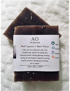 Organic Black Liquorice With Black Walnut & Anise Oil Extracts Gentle Skin Lightener   Face And Body Bar (Dandruff Too) by Etsy