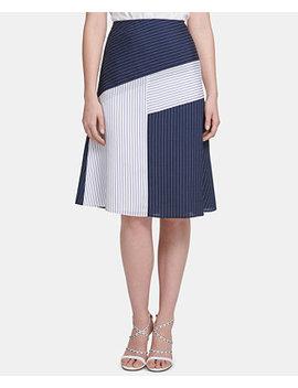 Colorblocked Midi Skirt by Dkny