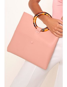 Nude Clutch Bag With Tortoiseshell Handle by I Saw It First