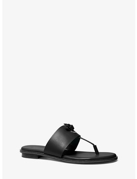 Cindy Leather Sandal by Michael Michael Kors