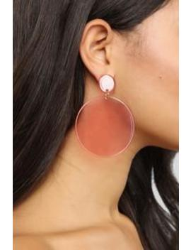 Drop Of Color Earrings   Pink by Fashion Nova