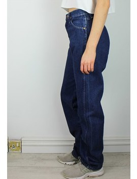 Vintage Wrangler Mom Jeans With Logo Back by Wrangler