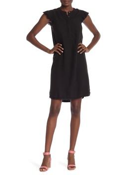 Flutter Cap Sleeve Henley Dress (Regular & Petite) by Susina