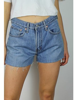 Vintage Levi's Denim Shorts W Red Tab Back by Levi's
