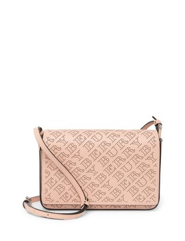 Hampshire Leather Brand Logo Perforated Crossbody Bag by Burberry