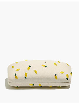 Lemon Embroidered Sunglass Case by Madewell
