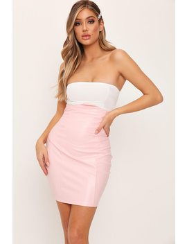 Pink Bustier Cut Out Mini Skirt by I Saw It First