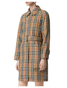 Kempton Vintage Check Belted Rain Coat by Burberry